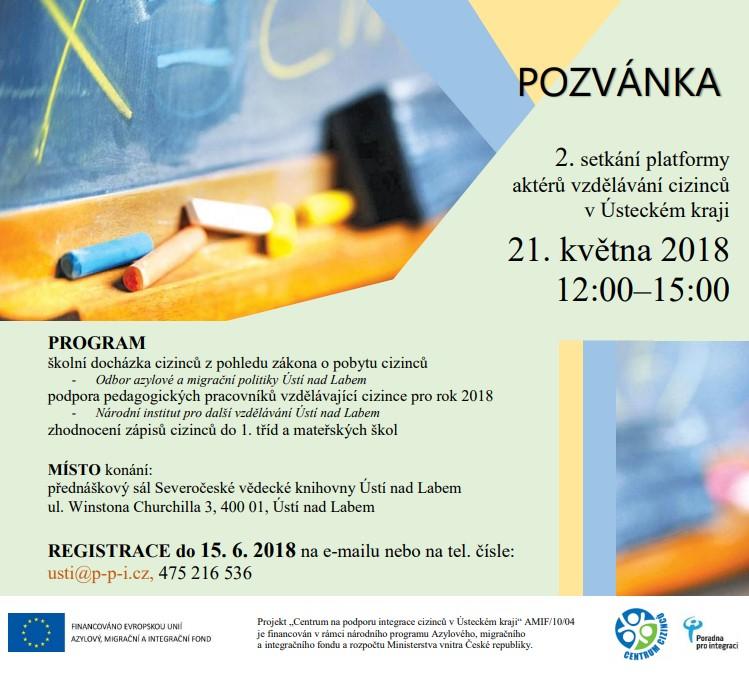 2. setkání platformy aktérů vzdělávání cizinců v Ústeckém kraji