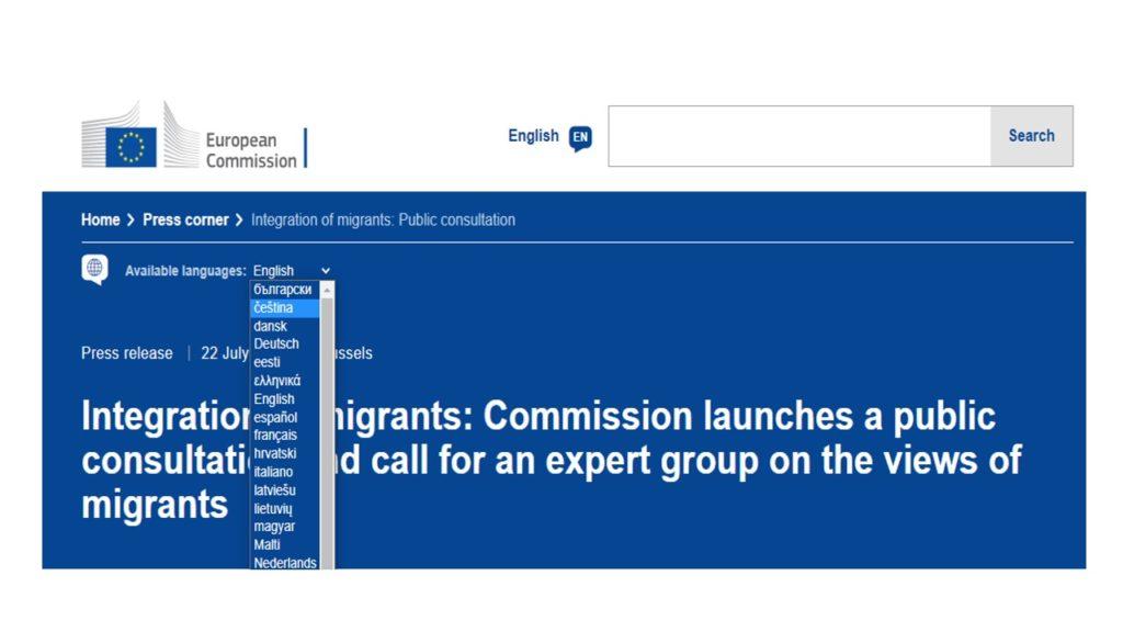 Evropská komise hledá členy do expertní skupiny zaměřené na názory migrantů